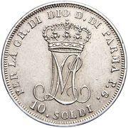 10 Soldi - Maria Luigia – reverse