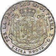 1 Lira - Maria Luigia – reverse