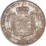 5 Lire - Maria Luigia – reverse