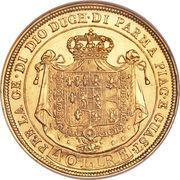 40 Lire - Maria Luigia – reverse