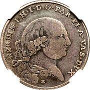 6 Lire - Ferdinando di Borbone – obverse