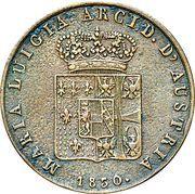 5 Centesimi - Maria Luigia – obverse