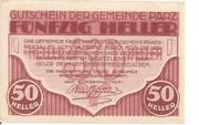 50 Heller (Parz) -  obverse