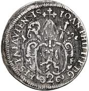 2 Kreuzer - Johann Philipp von Lamberg – obverse