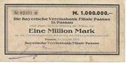 1,000,000 Mark (Bayerische Vereinsbank) – obverse