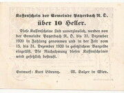 10 Heller (Payerbach) – reverse