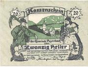 20 Heller (Payerbach) – obverse