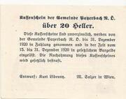 20 Heller (Payerbach) – reverse