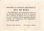 50 Heller (Payerbach) – reverse