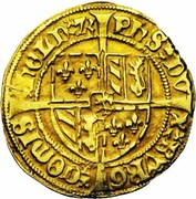 1 Bourgondische Gulden - Philip the Good – reverse