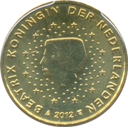 10 Euro Cent - Beatrix (2nd map; 2012 European Soccer Championship) – obverse