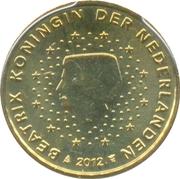 10 Euro Cent - Beatrix (2nd map; 2012 European Soccer Championship) – obverse