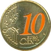 10 Euro Cent - Beatrix (2nd map; 2012 European Soccer Championship) – reverse