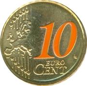 10 Euro Cent - Beatrix (2nd map; 2012 European Soccer Championship) – reverse