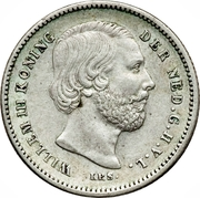 25 Cents - Willem III – obverse