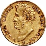 5 Gulden - Willem I – obverse