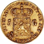 5 Gulden - Willem I – reverse