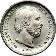 5 Cents - Willem III – obverse