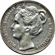 1 Gulden - Wilhelmina -  obverse
