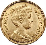 5 Gulden - Wilhemina – obverse