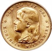 10 Gulden - Wilhelmina -  obverse