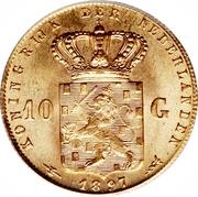 10 Gulden - Wilhelmina -  reverse
