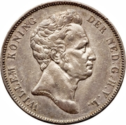 1 Gulden - Willem I – obverse