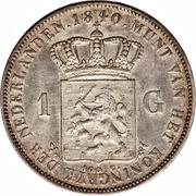 1 Gulden - Willem I – reverse