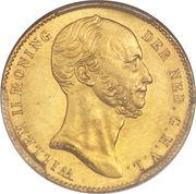 5 Gulden - Willem II – obverse