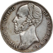 1 Gulden - Willem II – obverse