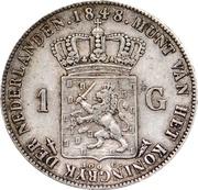 1 Gulden - Willem II – reverse