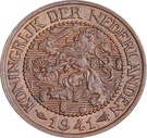 2½ Cents - Wilhelmina – obverse