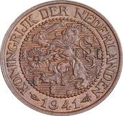 2½ Cents - Wilhelmina I – obverse