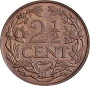 2½ Cents - Wilhelmina I – reverse