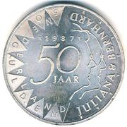 50 Gulden - Beatrix (Golden Wedding) – reverse
