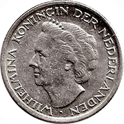 10 Cents - Wilhelmina -  obverse