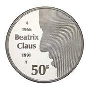 50 Gulden - Beatrix (Wedding of Beatrix) – reverse