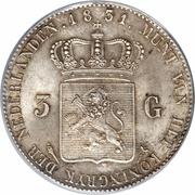 3 Gulden - Willem I – reverse