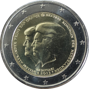 2 Euro - Willem-Alexander (Investiture of King Willem-Alexander) – obverse