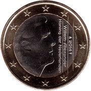 1 Euro - Willem-Alexander (2nd map) – obverse