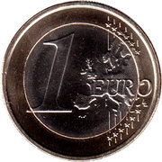 1 Euro - Willem-Alexander (2nd map) – reverse