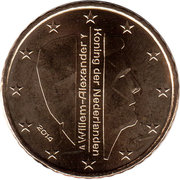 50 Euro Cent - Willem-Alexander (2nd map) – obverse