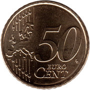 50 Euro Cent - Willem-Alexander (2nd map) – reverse