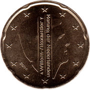 20 Euro Cent - Willem-Alexander (2nd map) – obverse