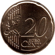 20 Euro Cent - Willem-Alexander (2nd map) – reverse
