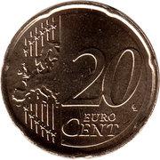 20 Euro Cent - Willem-Alexander (2nd map) – reverse