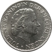 1 Gulden - Juliana -  obverse