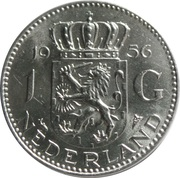 1 Gulden - Juliana -  reverse