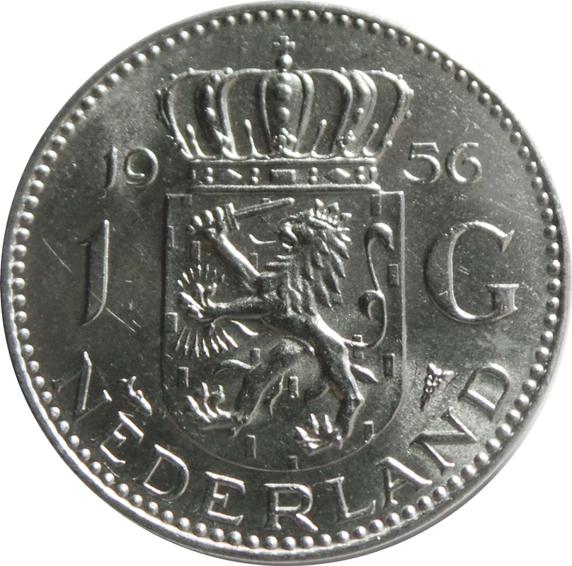 1 Gulden Juliana Netherlands Numista