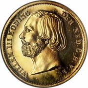 20 Gulden - Willem III – obverse